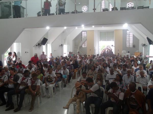 Autoridades participam da missa do vaqueiro em Água Branca