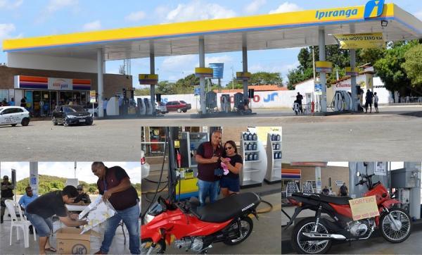 Posto Jr, na BR 343, bairro Montevidéu em Angical do Piauí sorteia moto Pop 100  0km para seus clientes