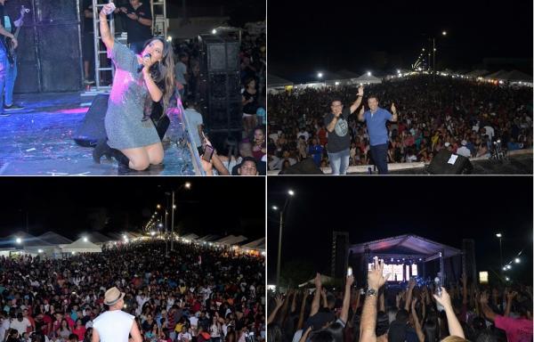 Grande multidão marca show de encerramento do festejo de Água Branca com Desejo de Menina; veja imagens