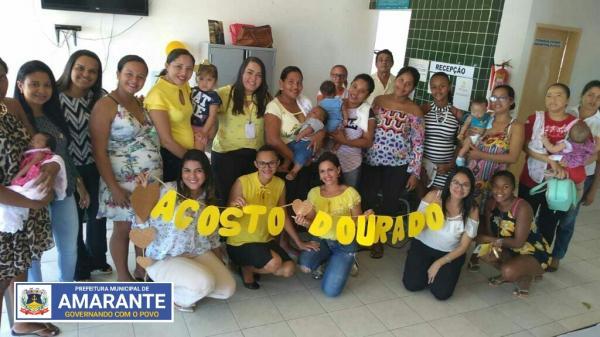 Prefeitura Municipal de Amarante realiza atividades alusivas ao mês do Aleitamento Materno