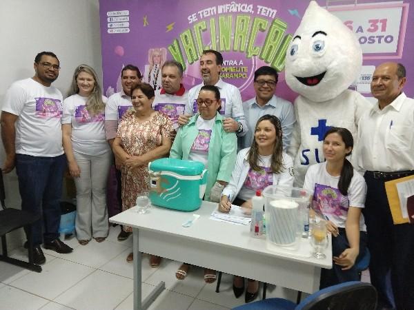 Abertura Nacional do dia 'D' de vacinação em Demerval Lobão com a presença do ministro da saúde