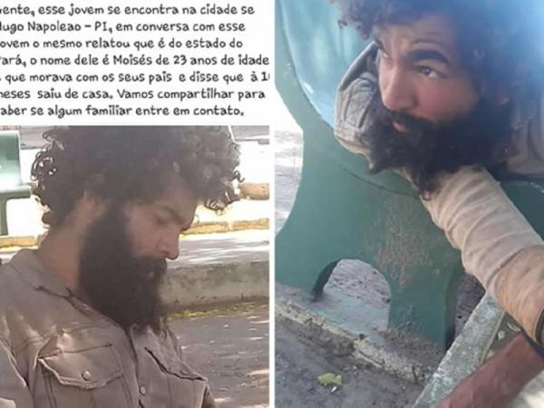 Jovem 'andarilho' de 23 anos que diz ser do Pará está na cidade de Hugo Napoleão; ajude encontrar a família