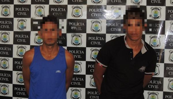 Suspeitos de estuprar mulher depois de roubar motocicleta da vítima são presos (Imagem: Divulgação/Polícia Civil do Piauí)