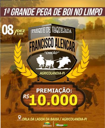 1º Pega de Boi no Limpo terá uma premiação de 10.000 mil 08 de Dezembro em Agricolândia