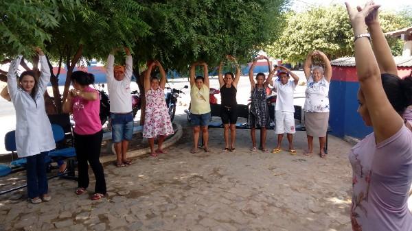 Agricolândia | Saúde de Pitombeira realiza atividade coletiva com Diabéticos