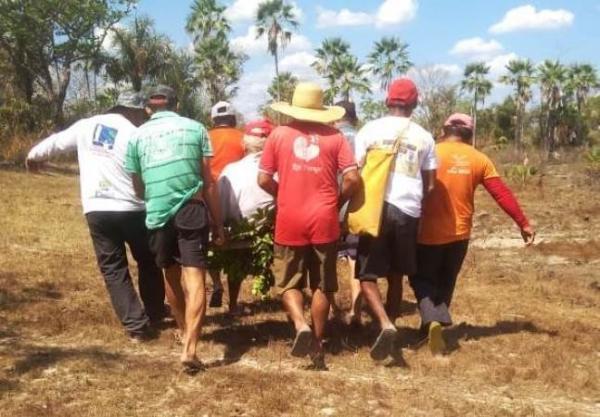 Idoso desaparece e é encontrado agonizando em matagal no Piauí