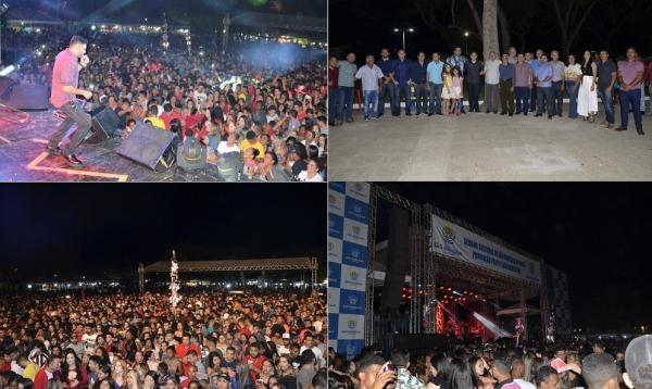 Show com Mano Walter reúne multidão e marca encerramento do festejo de São Gonçalo do Piauí; veja imagens