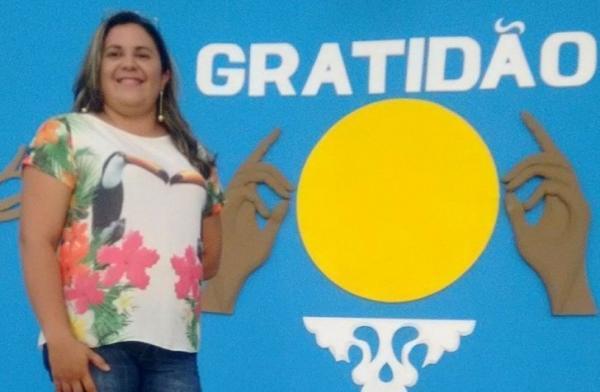 A professora Ana Cristina venceu a etapa Estadual do 11º Prêmio Nacional Professores do Brasil, categoria Pré-Escola (Imagem: Divulgação Ascom)