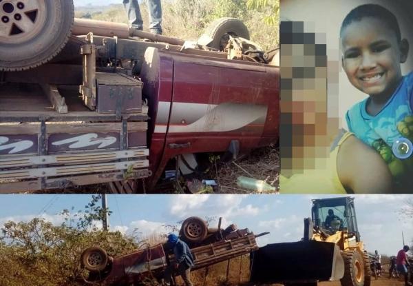 Tragédia: criança de 9 anos morre e mais duas pessoas ficam feridas em trágico acidente na zona rural de Agricolândia