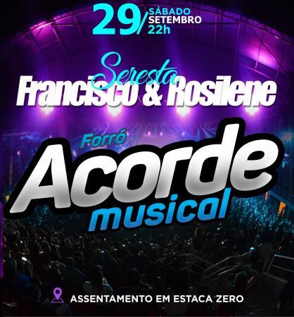 Tradicional Seresta do Francisco Verdureiro e Rosilene acontece dia 29 de Setembro