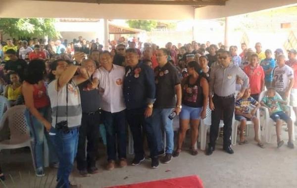 Deputados Assis Carvalho e João de Deus participam de atos de campanha em Prata do Piauí