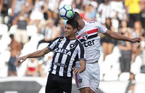 São Paulo empata com Botafogo e perde liderança para Palmeiras
