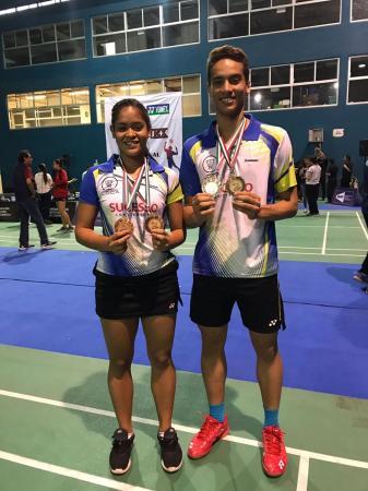 Dupla piauiense de badminton conquista medalha na Guatemala