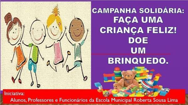 Escola municipal de Prata do Piauí lança campanha solidária 'Faça uma Criança Feliz'