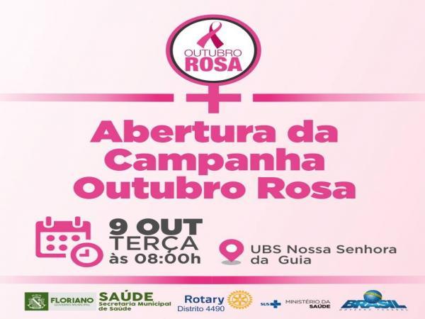 Abertura da campanha Outubro Rosa acontece nesta terça (9)