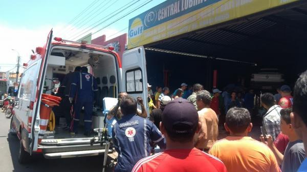 Mecânico tem quase 100% do corpo queimado durante explosão em oficina no Norte do Piauí