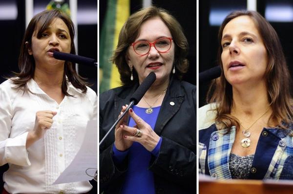 Eliziane Gama (PPS-MA), Zenaide Maia (PHS-RN) e Mara Gabrilli (PSDB-SP). (Foto: Divulgação)