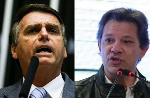 Pesquisa Datafolha para presidente, votos válidos: Bolsonaro, 58%; Haddad, 42%