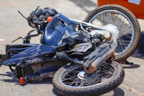 Motocicleta do acidente (Imagem: divulgação/Lucas Dias - GP1)