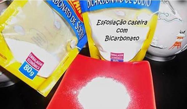 Esfoliação com Bicarbonato de Sódio