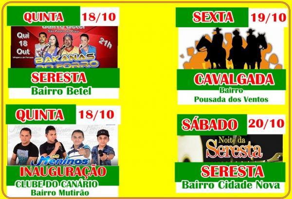 Feriadão: Confira agenda de eventos em São Pedro do Piauí