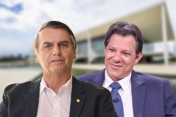 Datafolha: Bolsonaro soma 59% dos votos válidos. Haddad registra 41%
