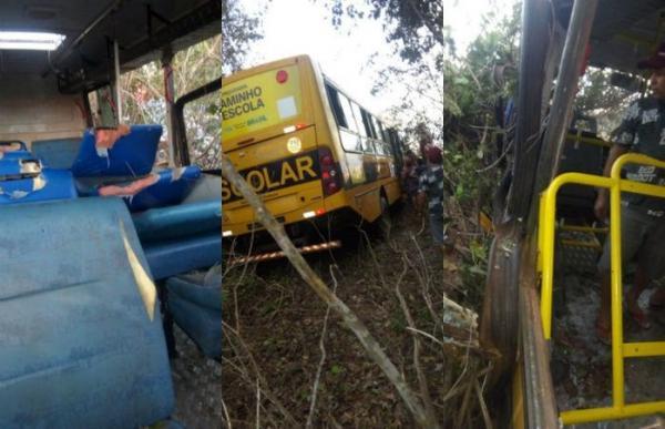 Acidente com ônibus escolar na BR-343 deixa 22 feridos entre crianças e adultos, no norte do Piauí