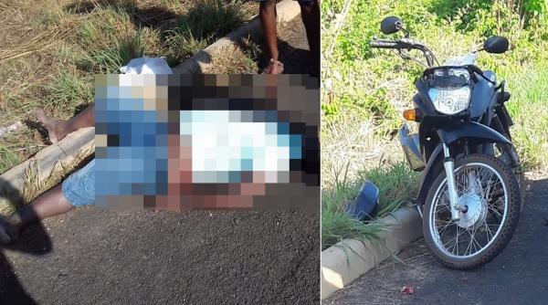 Idoso fica ferido em acidente na BR-343, em Angical do Piauí