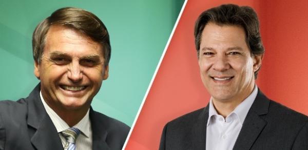 Ibope para presidente: Bolsonaro, 57%; Haddad, 43%