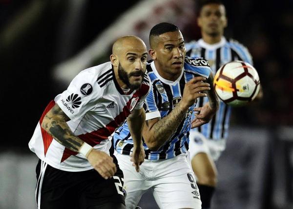 Grêmio bate River por 1 a 0  fora de casa e está próximo de nova final da Libertadores
