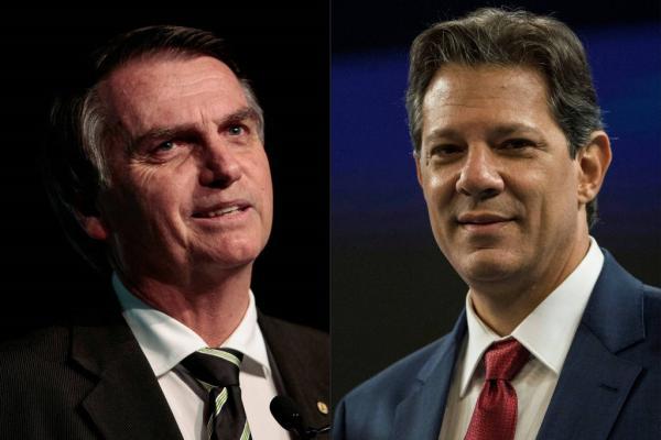 Bolsonaro e Haddad (Imagem: Arte/UOL)