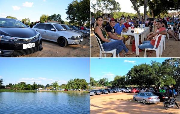 Amigos promovem encontro de carros rebaixados em Agricolândia; imagens