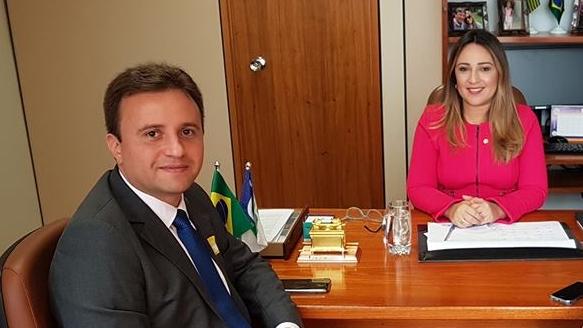 Júnior Bill em audiência com Rejane Dias (Foto: Reprodução/facebook)