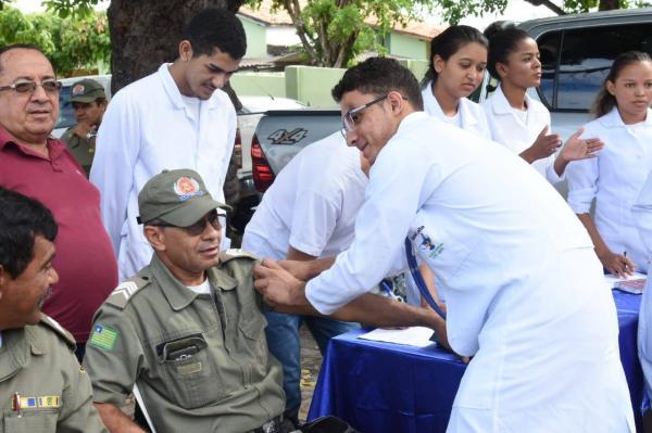 Secretaria de Saúde promove ação do Novembro Azul para policiais militares