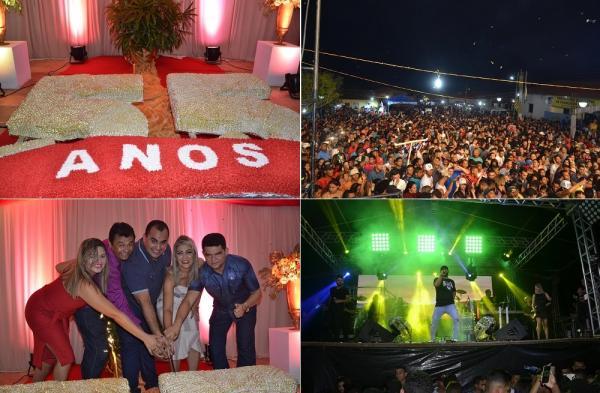Aniversário de 55 anos de Francisco Ayres é comemorado com corte do bolo e grande show em praça pública; imagens