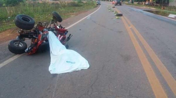 Cadeirante morre em acidente após capotar quadriciclo na BR 343 no norte do Piauí