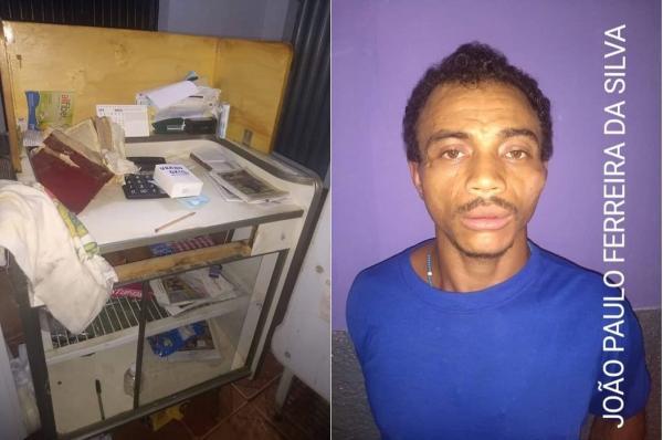 Acusado de vários crimes é preso por arrombamento a panificadora em Regeneração