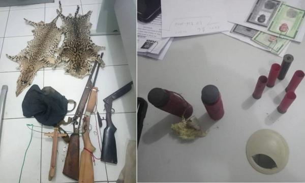 PM prende três por suspeita de furto de espingarda em São Pedro do PI; um dos suspeitos tinha várias armas em casa