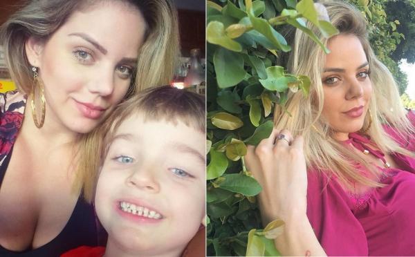 Ex-miss Piauí Renata Lustosa acusa ex-marido de sumir com seu filho de 4 anos