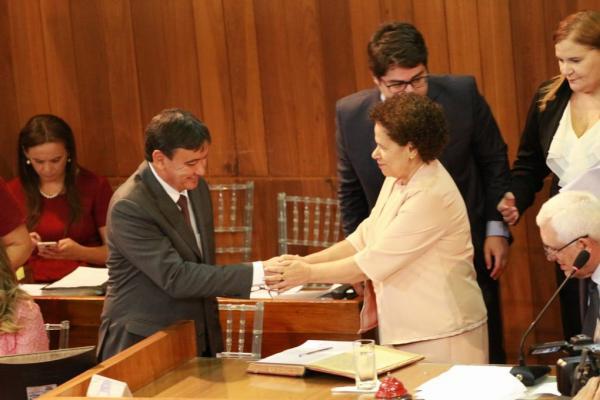 Wellington Dias toma posse do 4º mandato de governo e fala em 'medidas desagradáveis' para garantir equilíbrio financeiro