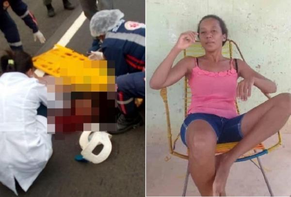 Mulher morre atropelada ao tentar atravessar a BR-316 entre as cidades de Demerval Lobão e Lagoa do Piauí