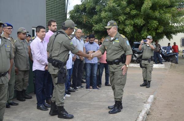 Solenidade de transferência de comando do 18º BPM (Imagem: Valdomiro Gomes/CANAL 121)