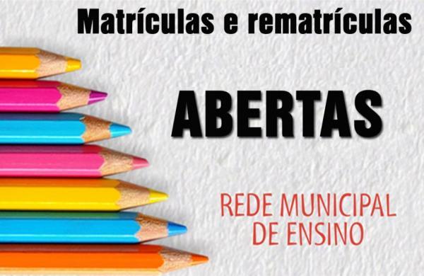 Educação de São Gonçalo do Piauí comunica que as matrículas para o ano letivo de 2019 estão abertas