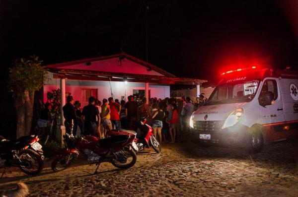 Casa onde aconteceu o homicídio (Imagem: Divulgação PM)