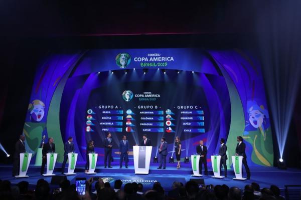 Brasil dá sorte e cai no grupo mais fácil da Copa América
