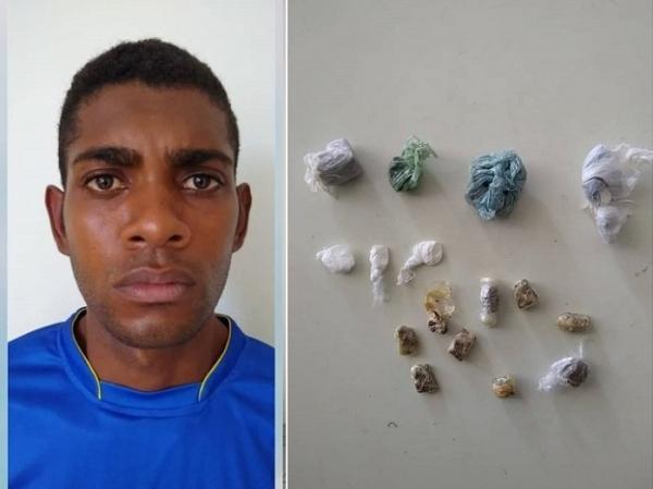 Suspeito de cometer diversos assaltos é preso com drogas na cidade de Amarante
