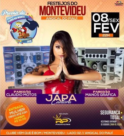 Prévia do bloquinho 'Fluxo no Monte' terá animação da Japa Cantora, no bairro Montevidéu, em Angical do Piauí
