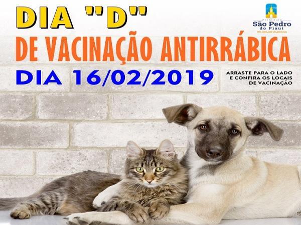 Vacinação antirrábica | Neste sábado acontece o dia