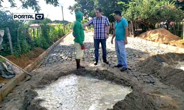 Prefeito Diego Teixeira visita finalização de obras na Comunidade Dois Coqueiros