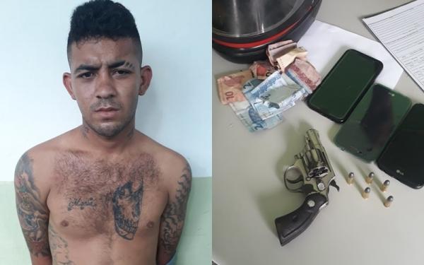 Homem é preso após assaltar a empresa de ônibus Jurandir; comparsa fugiu